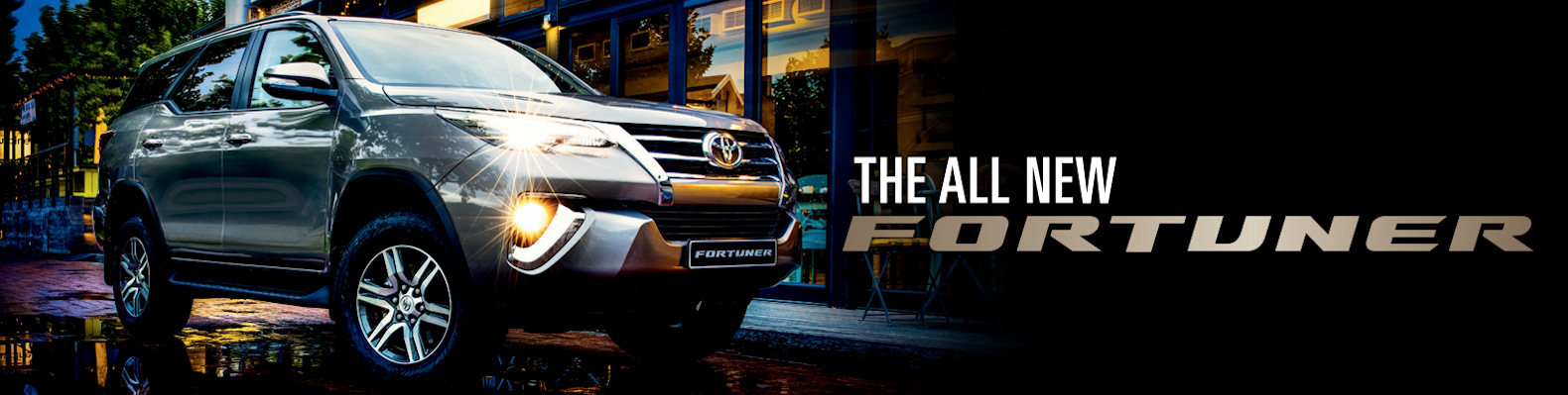 The All New Fortuner banner